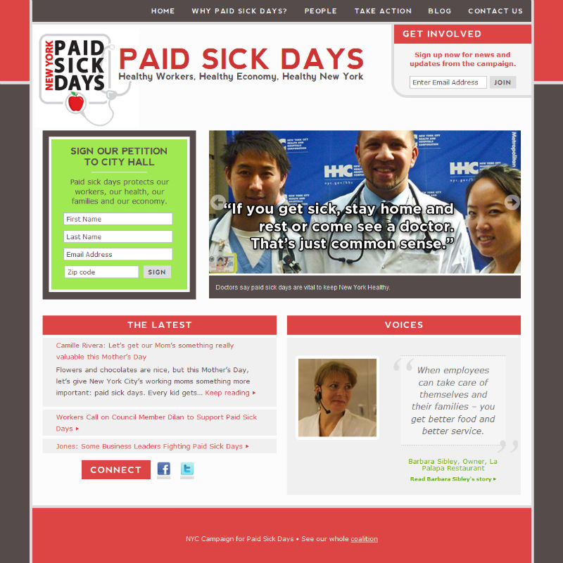 Screenshot - NYCforPaidSickDays.org