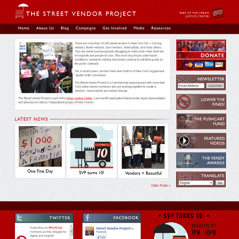 Screenshot - Streetvendor.org